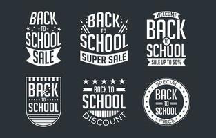 Back to School Badge Set vector