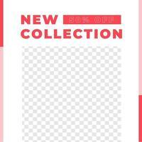 moda venta flash descuento redes sociales post moderno minimalista vector