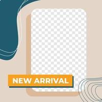 venta de moda descuento redes sociales post estilo minimalista moderno vector