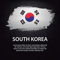 pincel de bandera de corea del sur vector
