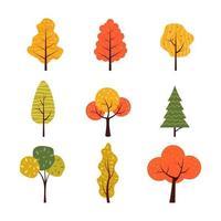 icono de árbol de otoño vector