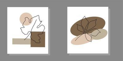 Ilustrasi estetika abstrak modern minimalis vector