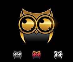 Golden Owl Logo Vector Sign