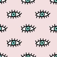 Evil Eyes Seamless Repeat Pattern vector
