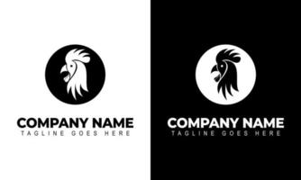 vector graphic of Modern vector logo template or icon of chicken head
