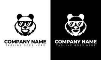 Ilustration vector graphic of Panda Head Logo Design Template. Modern