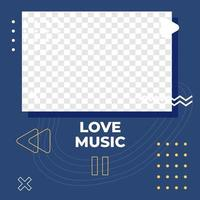 Music poster design social media post template vector