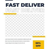 plantilla de publicación de redes sociales de diseño de feed de entrega de mensajería vector