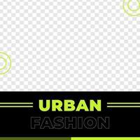 Urban discount poster social media post template vector