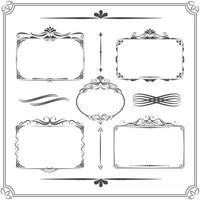 Vintage frame set. Calligraphic design elements. Vector illustration