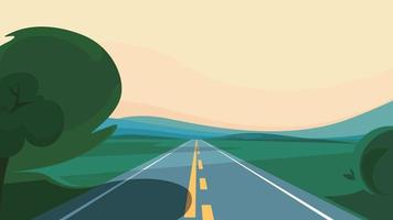 Road stretching into the horizon. vector