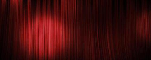 Fondo de cortina roja con foco. foto