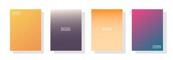 collection of beautiful colorful gradient backgrounds for flyer covers vector