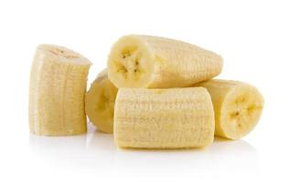 plátano sobre fondo blanco foto