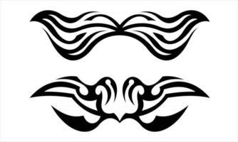 Vector Tribal Ornament Tattoo Design
