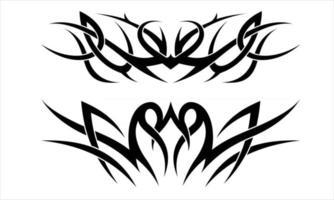 Tribal ornament tattoo vector