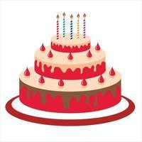 Birthday cake illustration vector