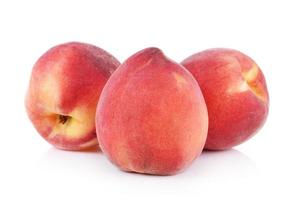 Peach with isolated on white background photo
