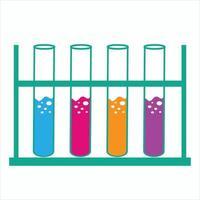 laboratory test tube icon vector