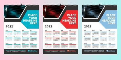 Free Wall Calendar 2022 Design with vector
