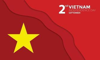 saludo del día de la independencia de vietnam papercut vector
