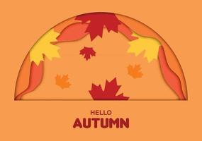 Hello Autumn Half Circle Paper vector
