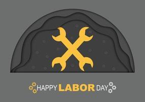 Happy Labor Day Half Circle Paper vector