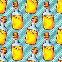 olive oil bottle seamless pattern vector illustration