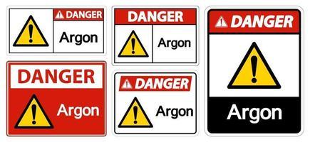 Danger Argon Symbol vector