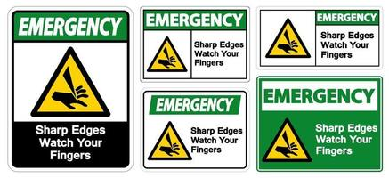 Emergency Sharp Edges Watch Your Fingers Symbol vector
