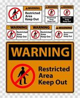 Warning Restricted Area Keep Out vector