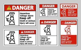 xDanger Hazardous Voltage Above Keep Out Death vector