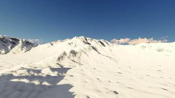 Movement over the snowy mountains Winter. video