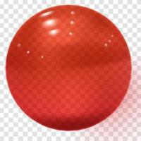 Red transparent glass ball Realistic pink sphere Clear glass ball vector