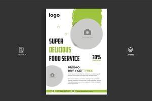Plantilla de diseño de volante de comida rápida menú de cocina y restaurante vector