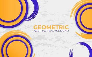 blue and yellow abstract geometric background. vector illustration.