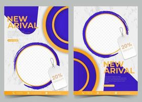 flyer template with photo vector