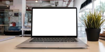 Blank screen laptop computer photo