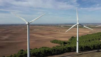 Aerial View of Windmills in The Province of Navarra video
