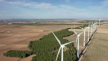 Aerial View of the Wind Turbines of Navarra video