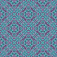 Green seamless background with multi-colored geometric pattern vector