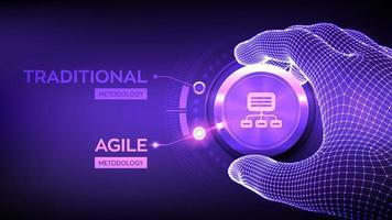 Agile software development methodology concept. vector