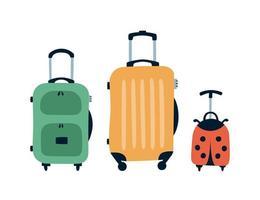 Travel bags. Family travel concept. Hand drawn cartoon vector