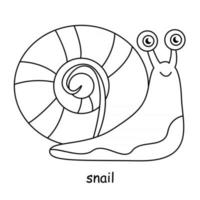 children coloring on the theme of animal vector, snail vector