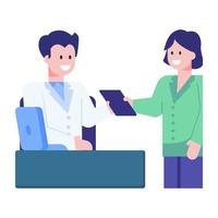 Clinic Medical Assistant vector