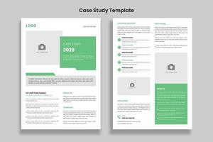 Minimalist Case Study flyer template design vector