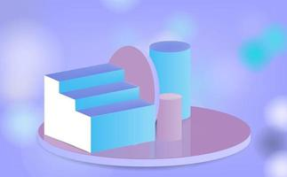 display stand on bokeh background vector