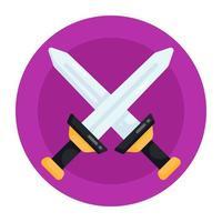 Crossed  Battle Swords vector