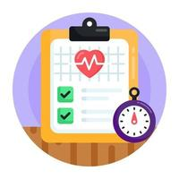 Health and Medical Report vector