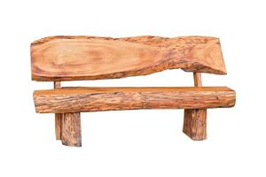 banco de madera aislado sobre fondo blanco. foto